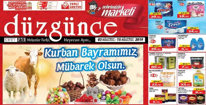 Düzgün Market'in bayram fiyatları belli oldu...