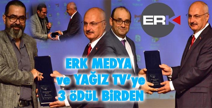 ERK MEDYA ve YAĞIZ TV'ye üç ödül...