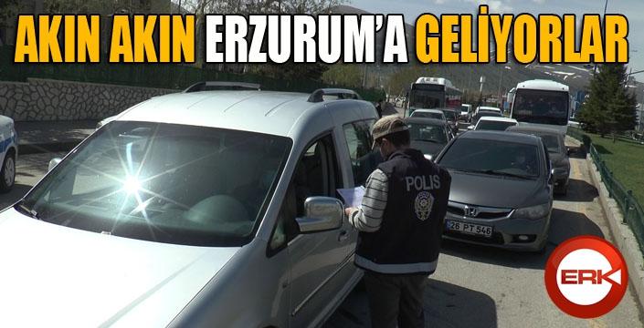 Erzurum'a akın akın geliyorlar