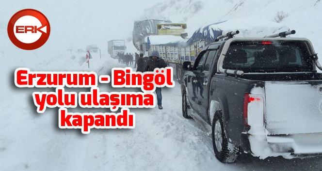 Erzurum-Bingöl karayolu ulaşıma kapandı...