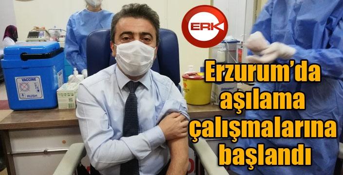 Erzurum'da aşılama çalışmalarına başlandı