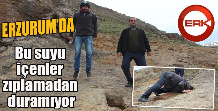Erzurum'da Bu suyu içenler zıplamadan duramıyor