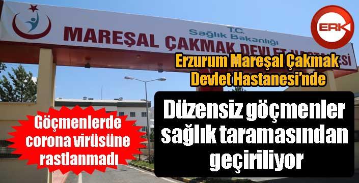 Erzurum'da düzensiz göçmenler sağlık taramasından geçiriliyor