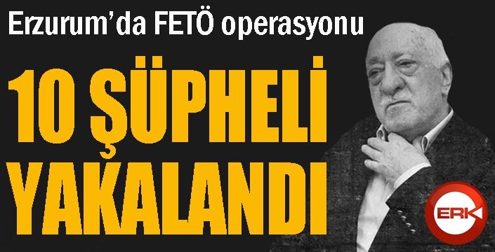 Erzurum'da FETÖ operasyonunda 10 şüpheli yakalandı