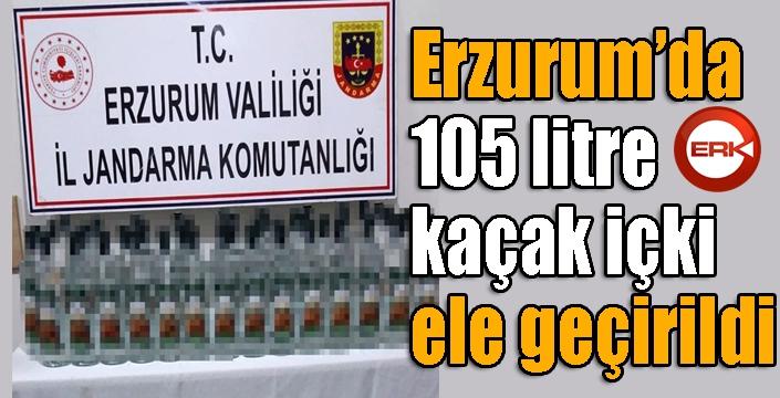 Erzurum'da Jandarmadan kaçak içki operasyonu