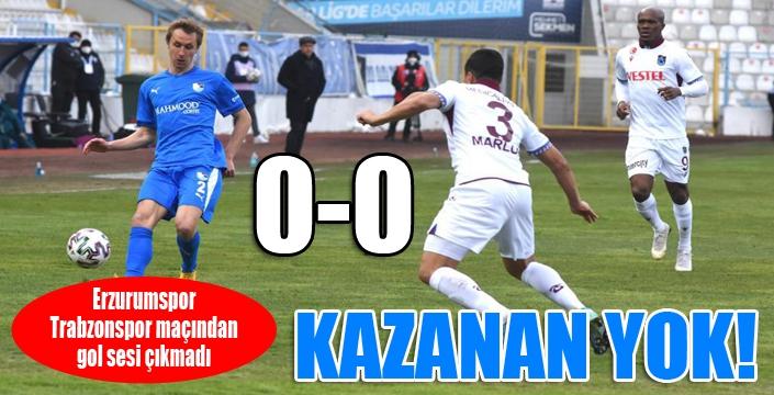 Erzurum'da kazanan çıkmadı...
