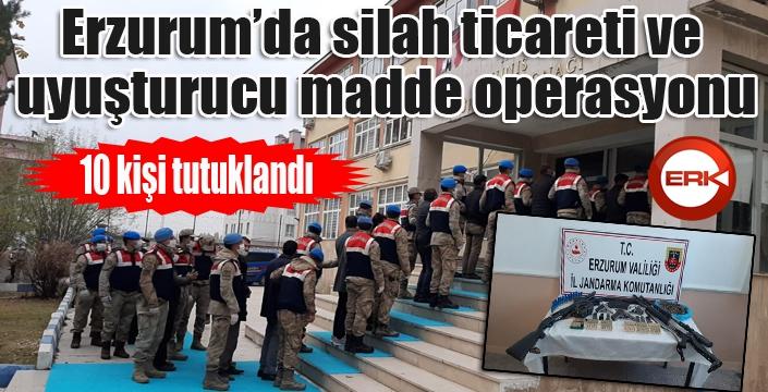 Erzurum'da silah ticareti ve uyuşturucu operasyonu