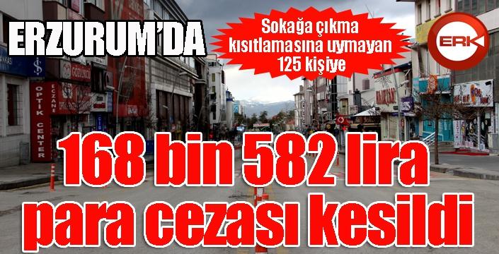Erzurum'da sokağa çıktı, cezayı yediler...