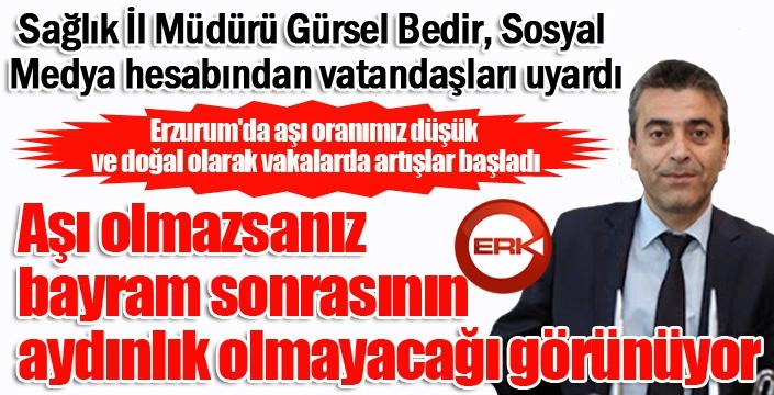 Erzurum'da vaka sayısı artıyor...