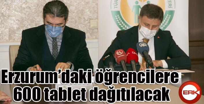 Erzurum'daki öğrencilere 600 tablet dağıtılacak