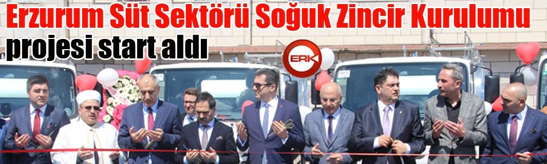 Erzurum Süt Sektörü Soğuk Zincir Kurulumu projesi start aldı
