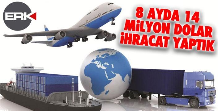 Erzurum'un 8 aylık dış ticaret payı açıklandı