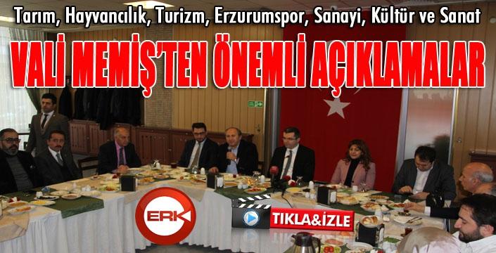 Erzurum Valisi Okay Memiş'ten önemli açıklamalar