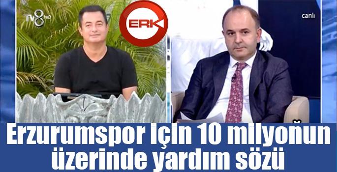 Erzurumspor'a 10 milyonun üzerinde yardım sözü...