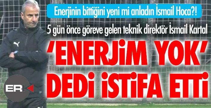Erzurumspor'da şok gelişme... İsmail Kartal istifa etti...