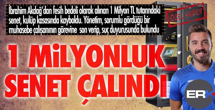 Erzurumspor'da şok... Kasadaki 1 Milyon TL'lik senet çalındı...