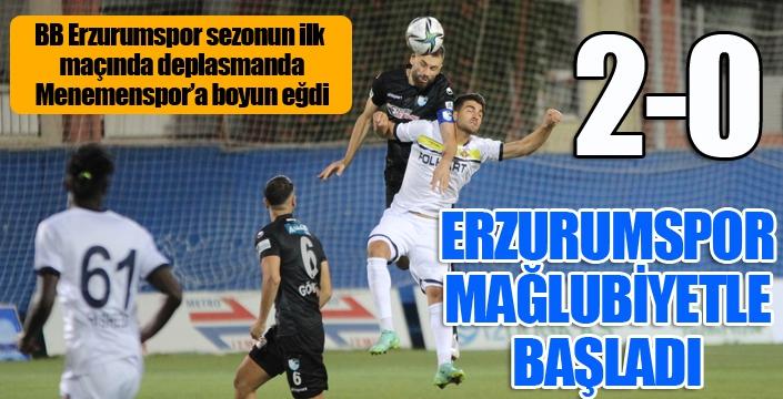 Erzurumspor mağlubiyetle başladı...