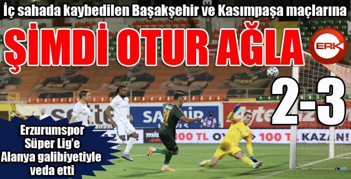 Erzurumspor, Süper Lig'e veda etti...