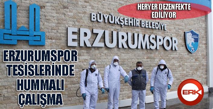 Erzurumspor tesislerinde dezenfekte çalışmaları