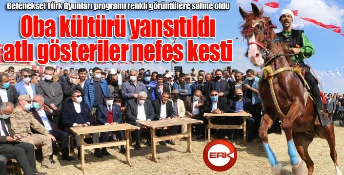 Geleneksel Türk Oyunları programı renkli görüntülere sahne oldu