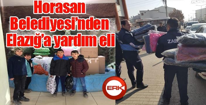 Horasan Belediyesi'nden Elazığ'a yardım eli