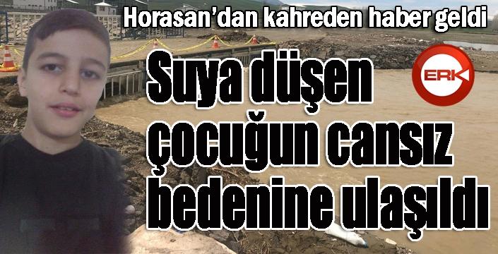 Horasan'da suya düşen çocuğun cansız bedenine ulaşıldı