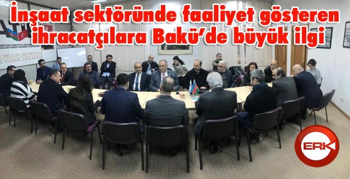 İnşaat sektöründe faaliyet gösteren ihracatçılara Bakü'de büyük ilgi