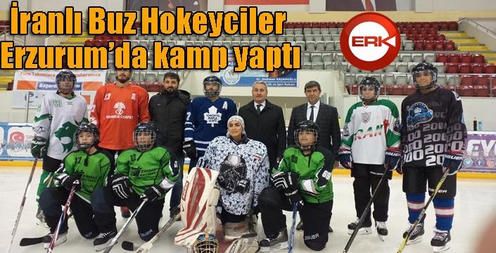 İranlı Buz Hokeyciler Erzurum'da kamp yaptı
