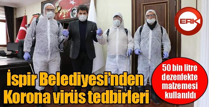 İspir Belediyesi'nden Korona virüs tedbirleri