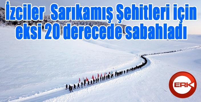 İzciler, Sarıkamış Şehitleri için karlı dağları aşarak eksi 20 derecede çadırda sabahladı