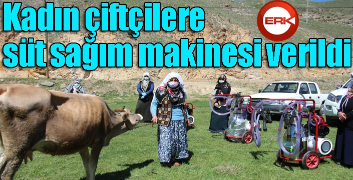 Kadın çiftçilere süt sağım makinesi verildi