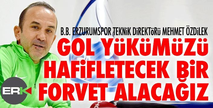 Mehmet Özdilek: İyi bir golcüyü kadroya katacağız...