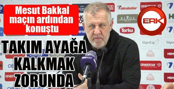 """Mesut Bakkal: """"Bireysel hatalarla mağlup olduk"""""""