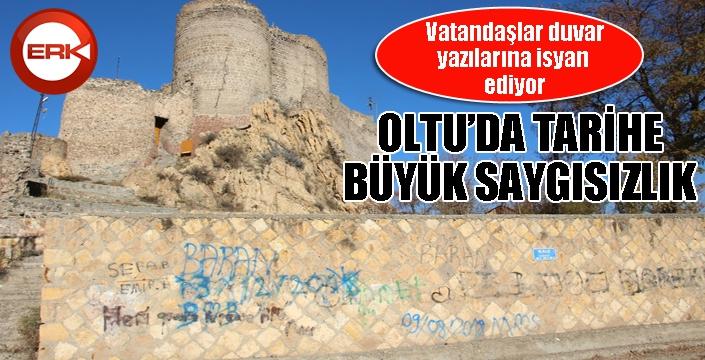 Oltu'da tarihe büyük saygısızlık...
