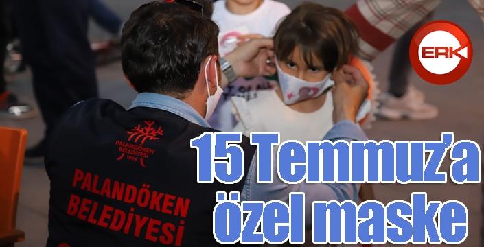 Palandöken Belediyesi'nden 15 Temmuz'a özel maske