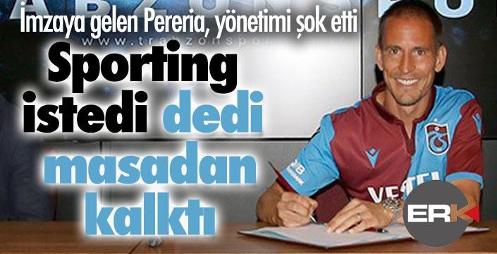 Pereira masadan kalktı, Portekiz'e uçtu