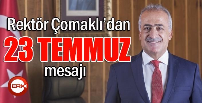 """Rektör Çomaklı; """"Erzurum Kongresinin 102. Yıl dönümü kutlu olsun"""""""