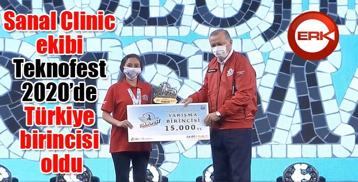 Sanal Clinic ekibi Teknofest 2020'de Türkiye birincisi oldu