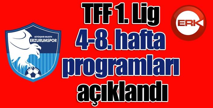 TFF 1. Lig 4-8. hafta programları açıklandı