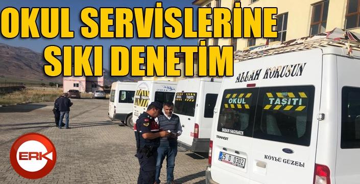 Trafik Jandarma ekiplerinden okul servislerine denetim