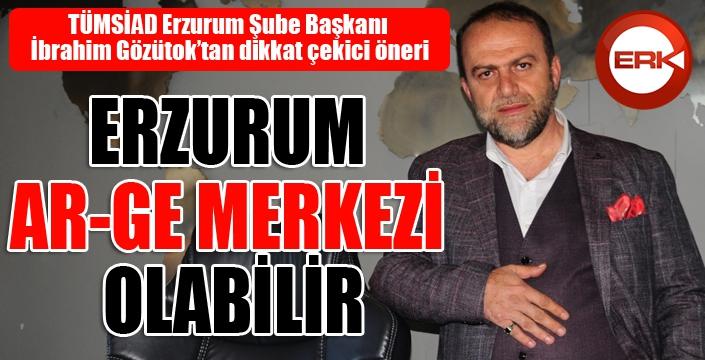 TÜMSİAD Şube Başkanı Gözütok: Erzurum AR-GE merkezi olabilir...