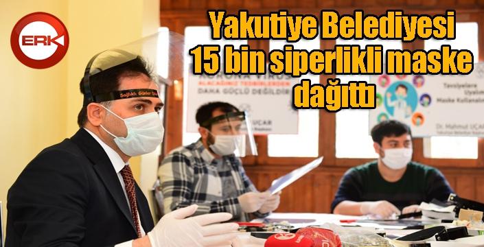 Yakutiye Belediyesi 15 bin siperlikli maske dağıttı